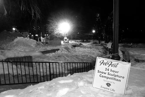 24-hour Snow Sculpture Competition