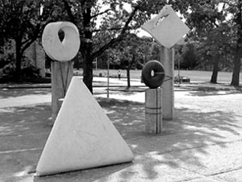 Five Sculptures on Topological Themes