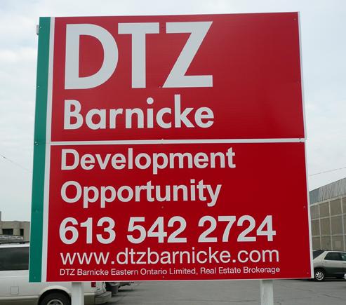 DTZ Barnicke Sign