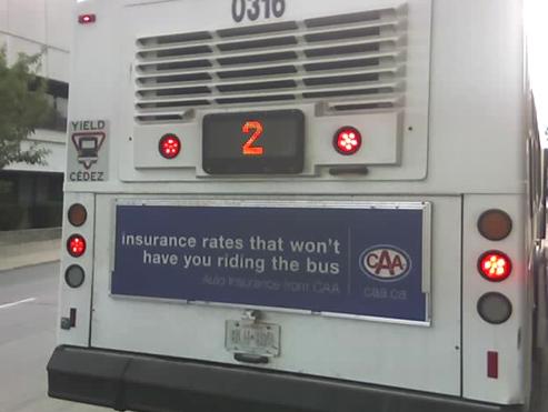 CAA Bus Advertisement