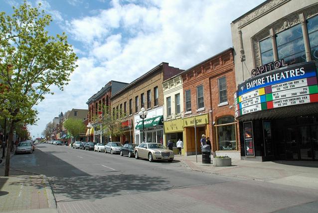downtown Kingston's historic shops