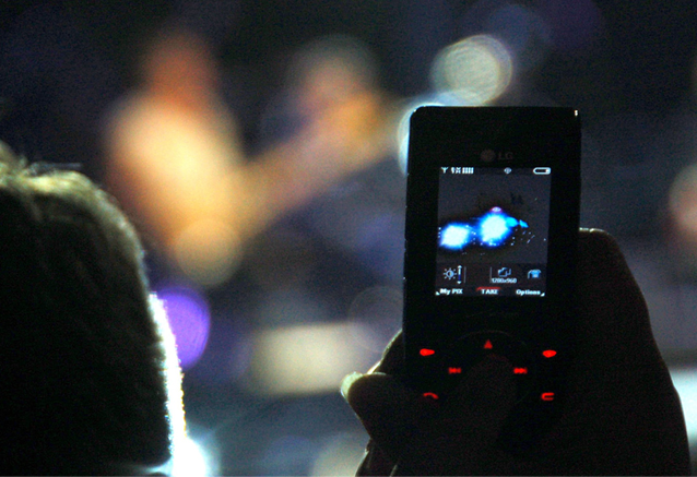 cell phone, audience, concert
