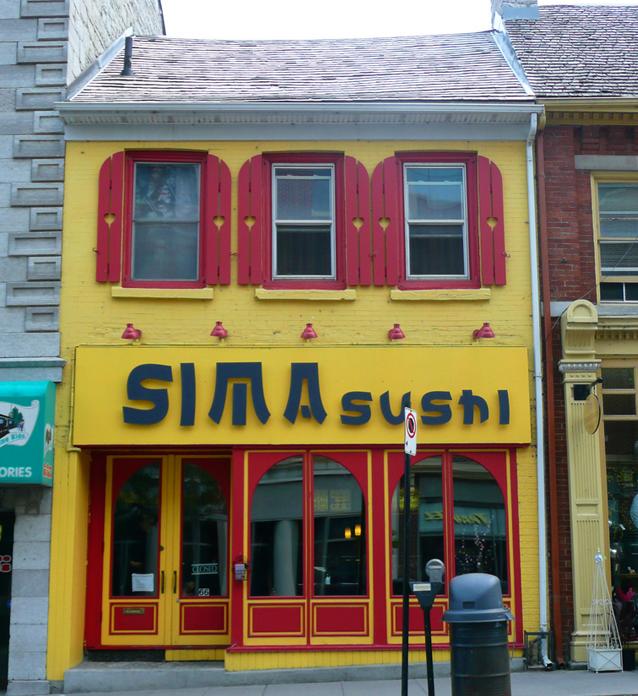 Sima, sushi, Kingston, Ontario