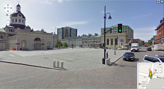 Google Streetview in Kingston, street level map of Kingston, Ontario