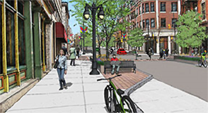 Princess Street construction, rendering of Princess Street