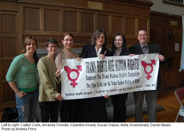Trans Day celebration, Kingston, Ontario