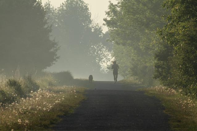 running at Lemoine Point