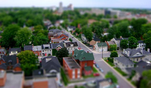tilt shift photography, Kingston, Ontario