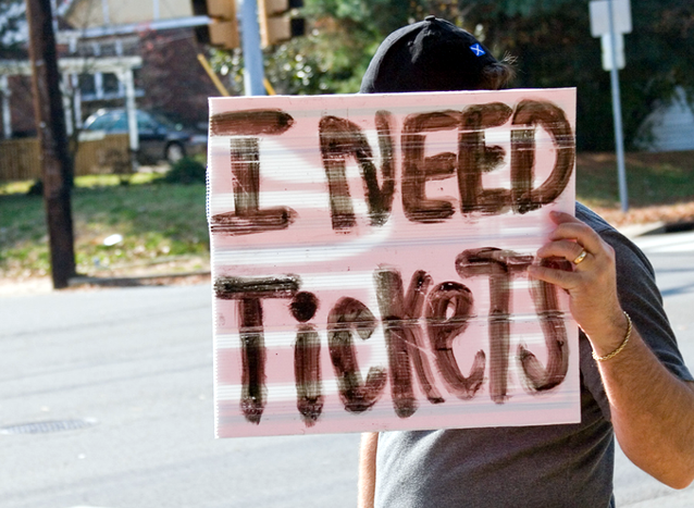 ticket scalpers, illegal ticket sales, Kingston, Ontario