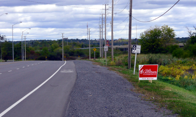 election signs are trash, Kingston, Ontario