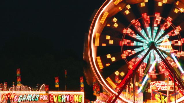 Kingston Fall Fair, ferris wheel at night