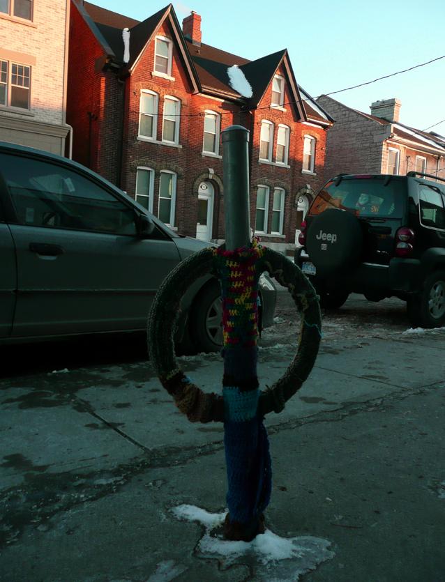 Yarn Bomb, Kingston, Ontario