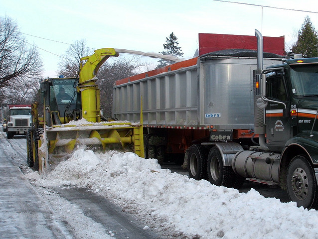 Snow Removal, slippery sidewalk, Kingston