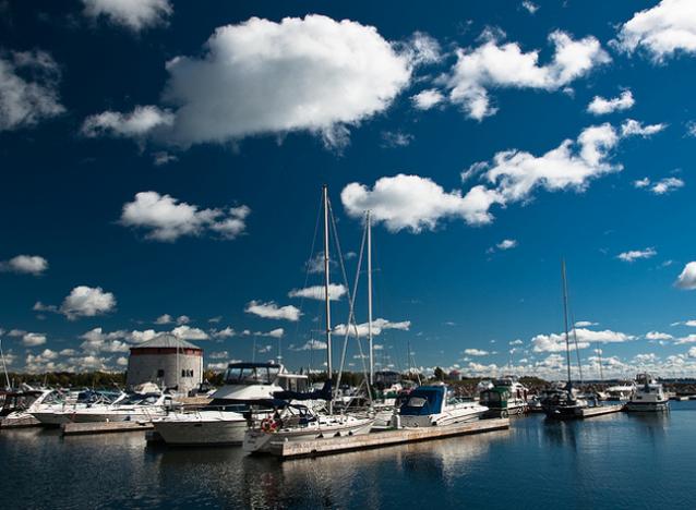 dreaming of summer, boating, Confederation Basin, Kingston, Ontario