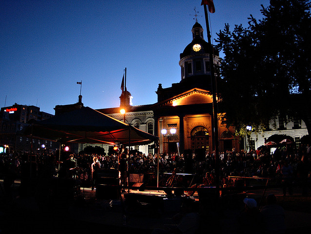 Live music in front of Kingston City Hall