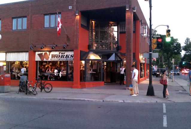 The Works, gourmet burger bistro, Kingston, Ontario