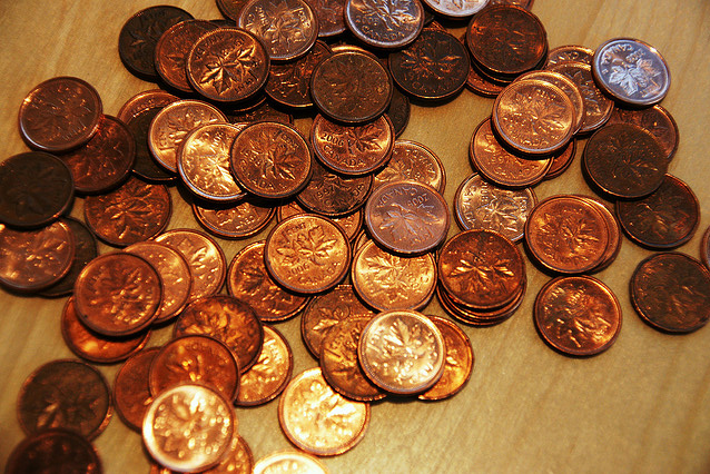 one cent, penny, 1 cent, Canadian money, coin