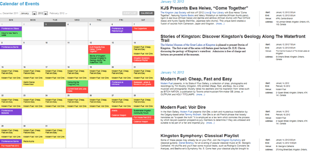 Event Calendar Re-Launched — Kingston News