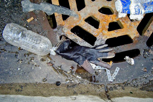 winter garbage