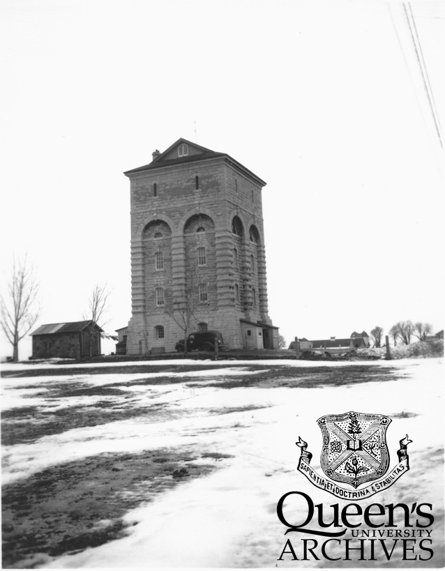 Penitentiary water tower, ca. 1949 (Kingston Picture Collection V23-PuB-KP-Water Tower-1)