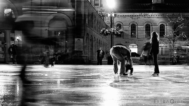 outdoor rinks, skating, hockey, Kingston, Ontario