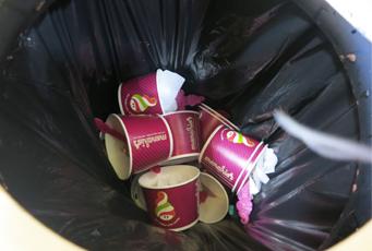 Menchies waste, fast food garbage