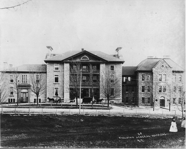 The first Parliament in Canada, Kingston General Hospital
