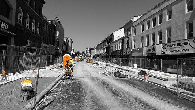 road construction, road closure