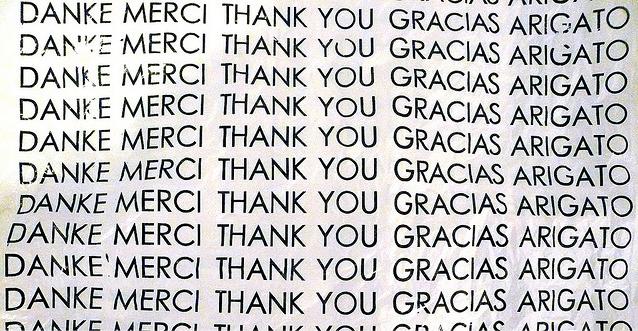 give thanks, gratitude