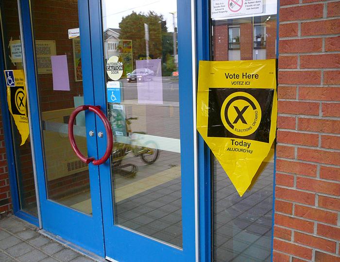 provincial election, polling station, vote, kingston, ontario