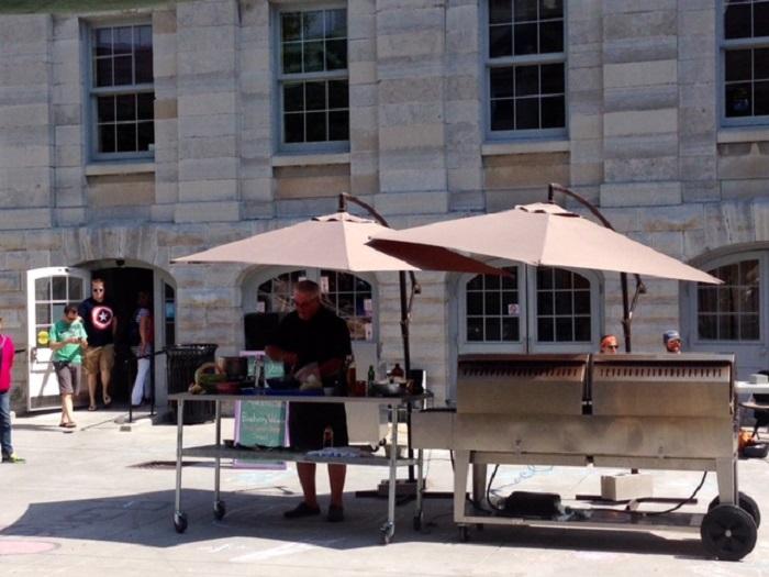 Local Food, Local Chef demos, Market Square, Kingston, Ontario