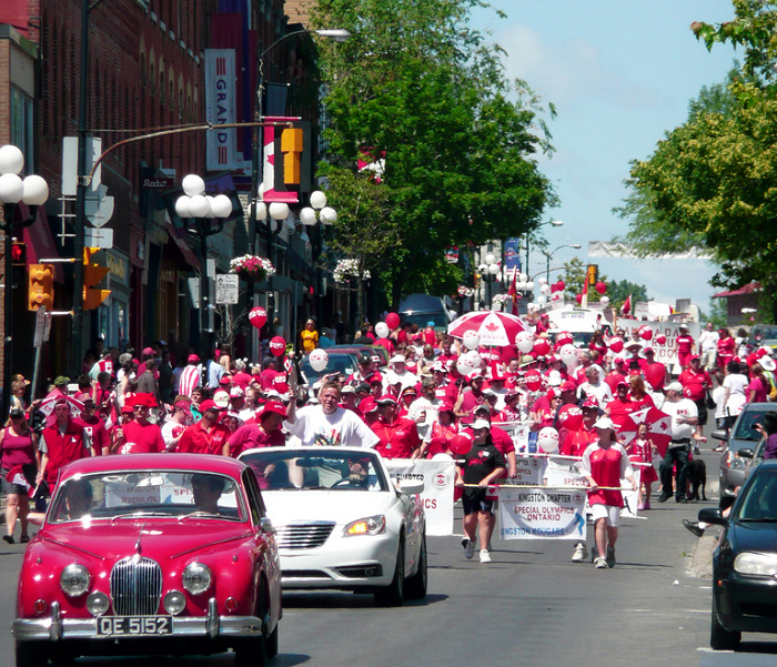 Canada Day Celebrations, Limestone Mile, Grass Creek Park, Confederation Basin, Pan Am Games, Torch Relay,Red and White Parade Kingston, Ontario