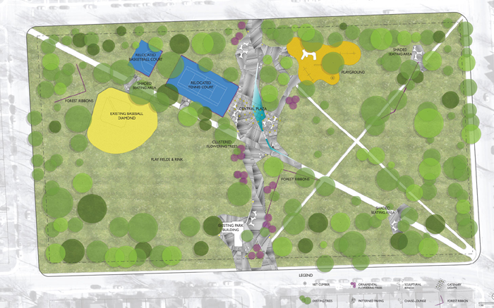 Victoria Park, Vic Park, design, Kingston, Ontario