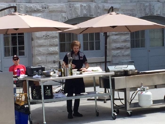 Chef Demo, Eric Brennan, Le Chien Noir, Kingston, Ontario