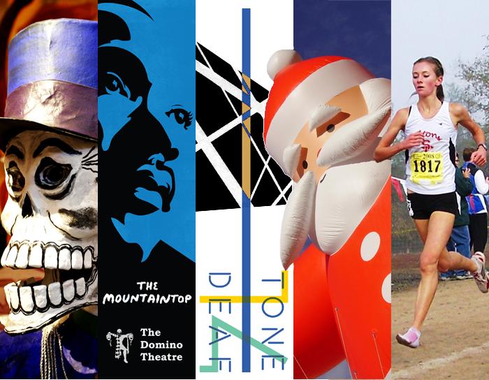 Dia de los Muertos Festival, The Mountaintop, Tone Deaf 14, Nighttime Santa Parade, Canadian Cross Country Championships, Kingston, Ontario