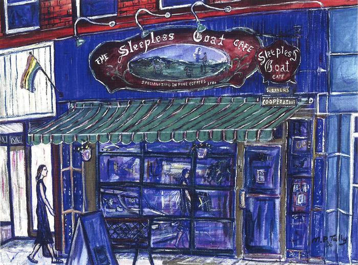 favourite cafe, The Sleepless Goat, Kingston, Ontario