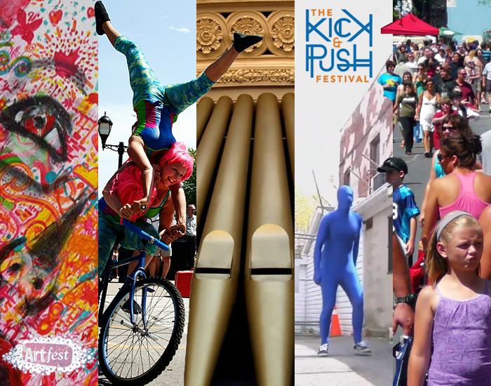Artfest Kingston, Buskers Rendezvous, Kick and Push Festival, Princess Street Promenade, I Feel The Winds Music Festival, Kingston, Ontario