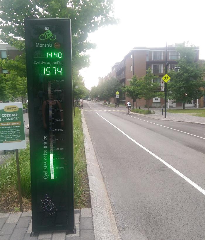bike counter, cycling, bike safety, Kingston, Ontario