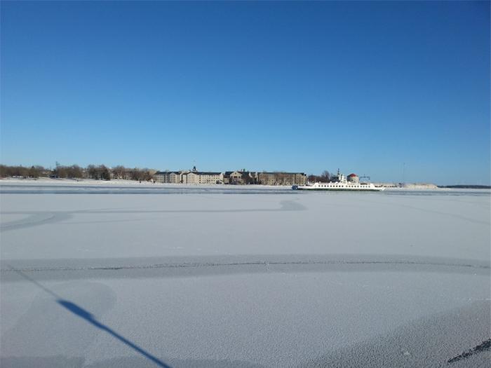 Winter on Wolfe Island, Kingston, Ontario