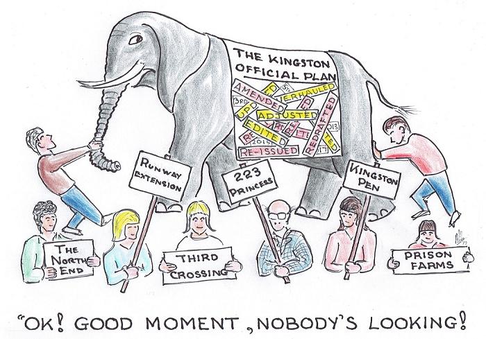 cartoon, Kingston City Council, official plan, Kingston, Ontario