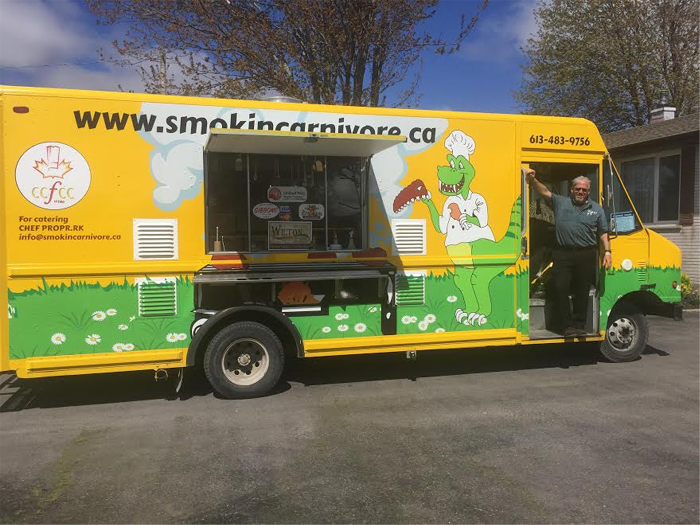 Smokin' Carnivore, Randy Kellett, food truck, Kingston, Ontario