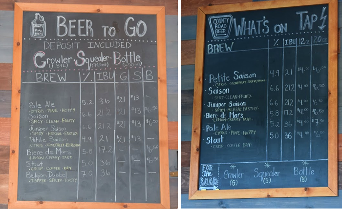 County Road Beer Co., brewery, Prince Edward County, PEC, Ontario