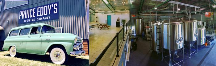 Prince Eddy's Brewing Company, brewery, Prince Edward County, PEC, Ontario