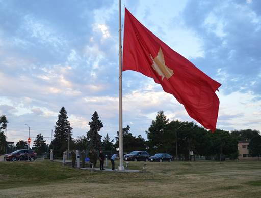 1st Canadian Division raised the divisional flag on the Kingston Garrison.