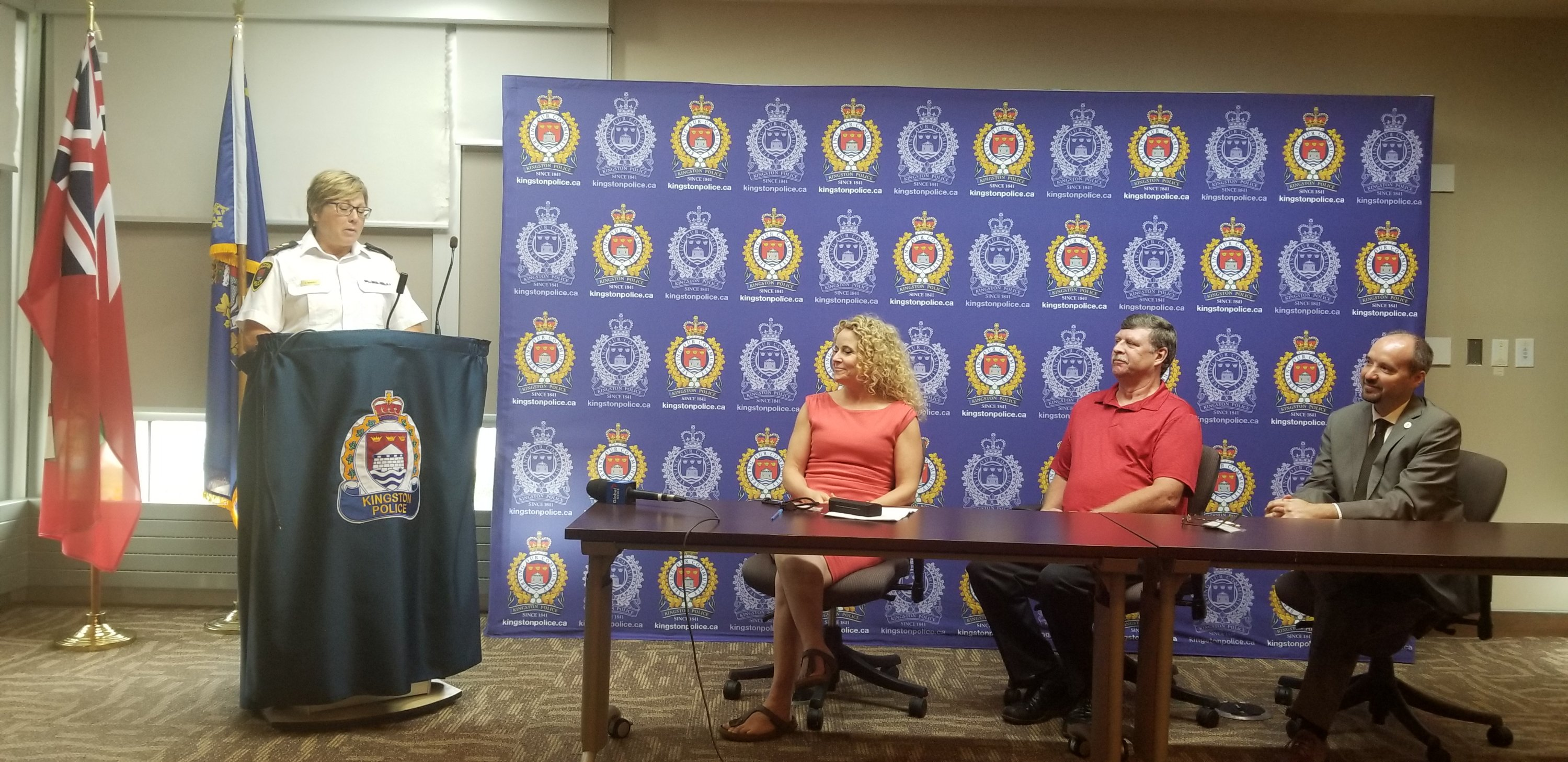 Chief-designate Antje McNeely speaks following announcement she will be Kingston Police's 17th Chief.