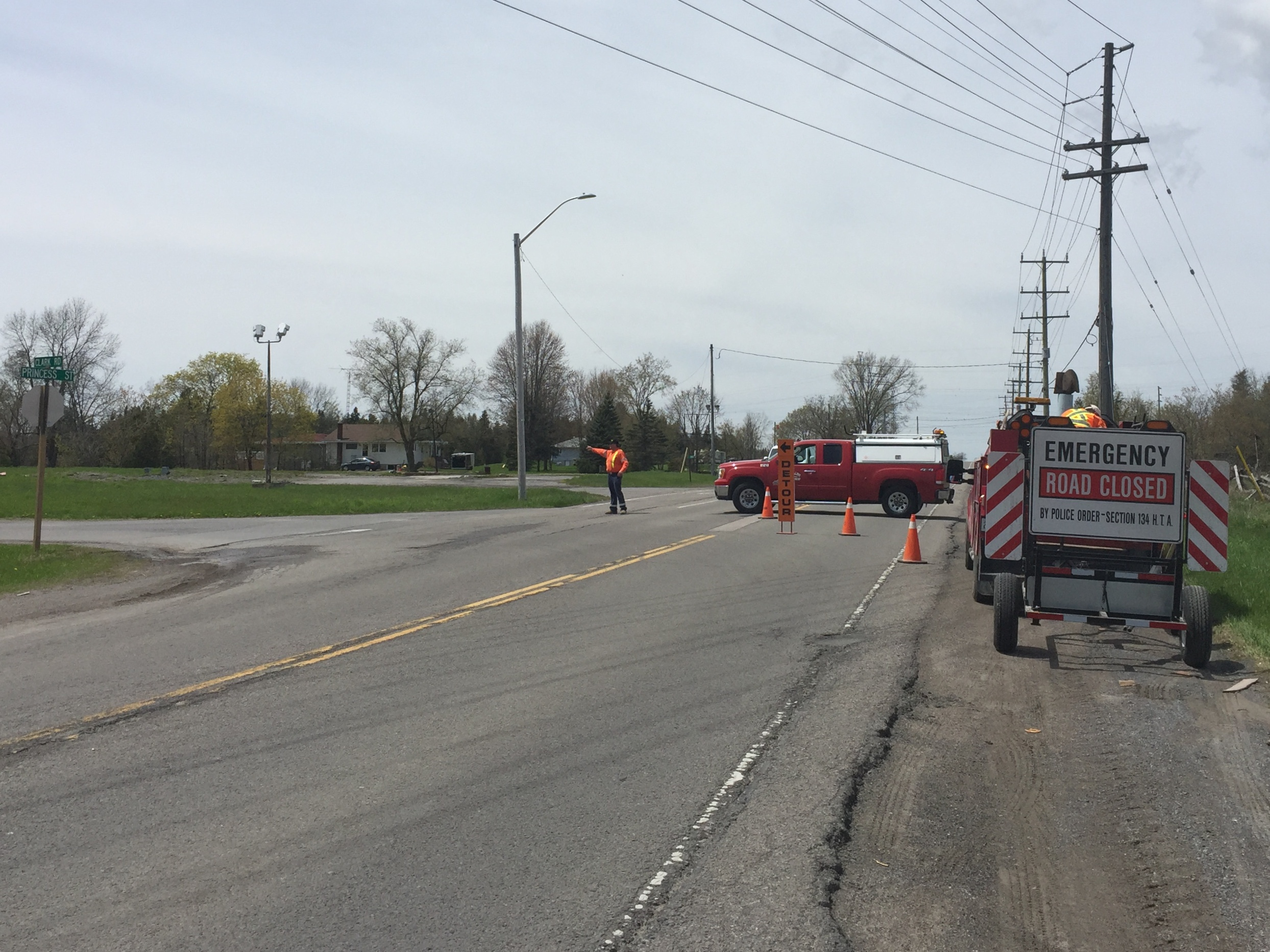 Collision causing fatality leads to closure of County Road 2