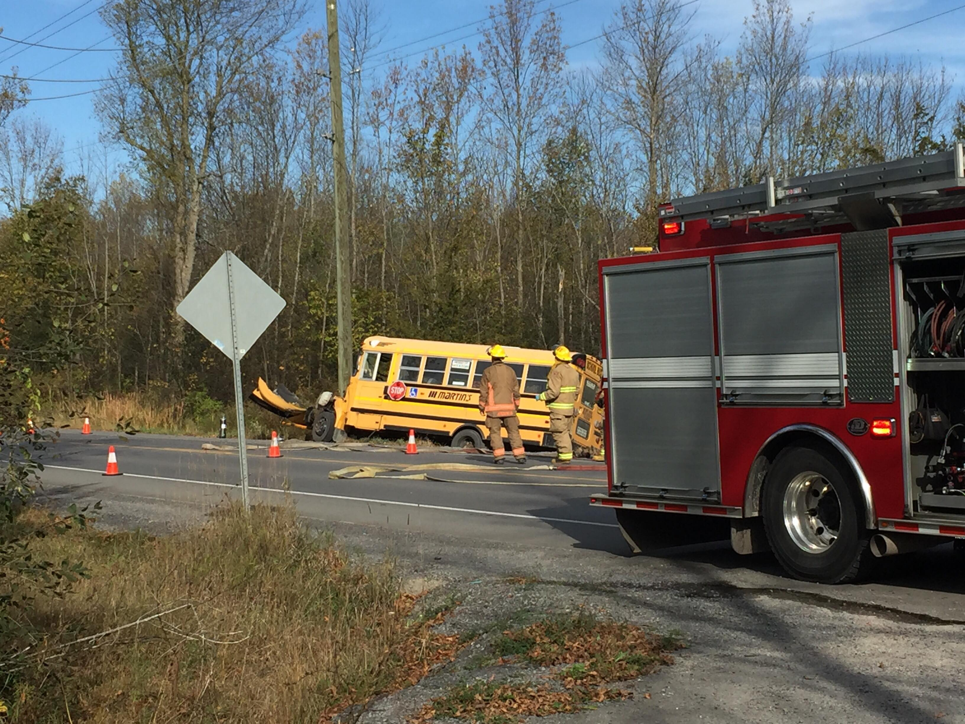 Bus driver charged after collision in Loyalist Township