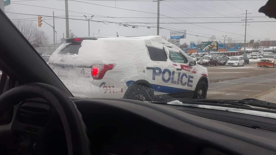 Kingston Police Respond To Photos Of Snow Covered Cruiser