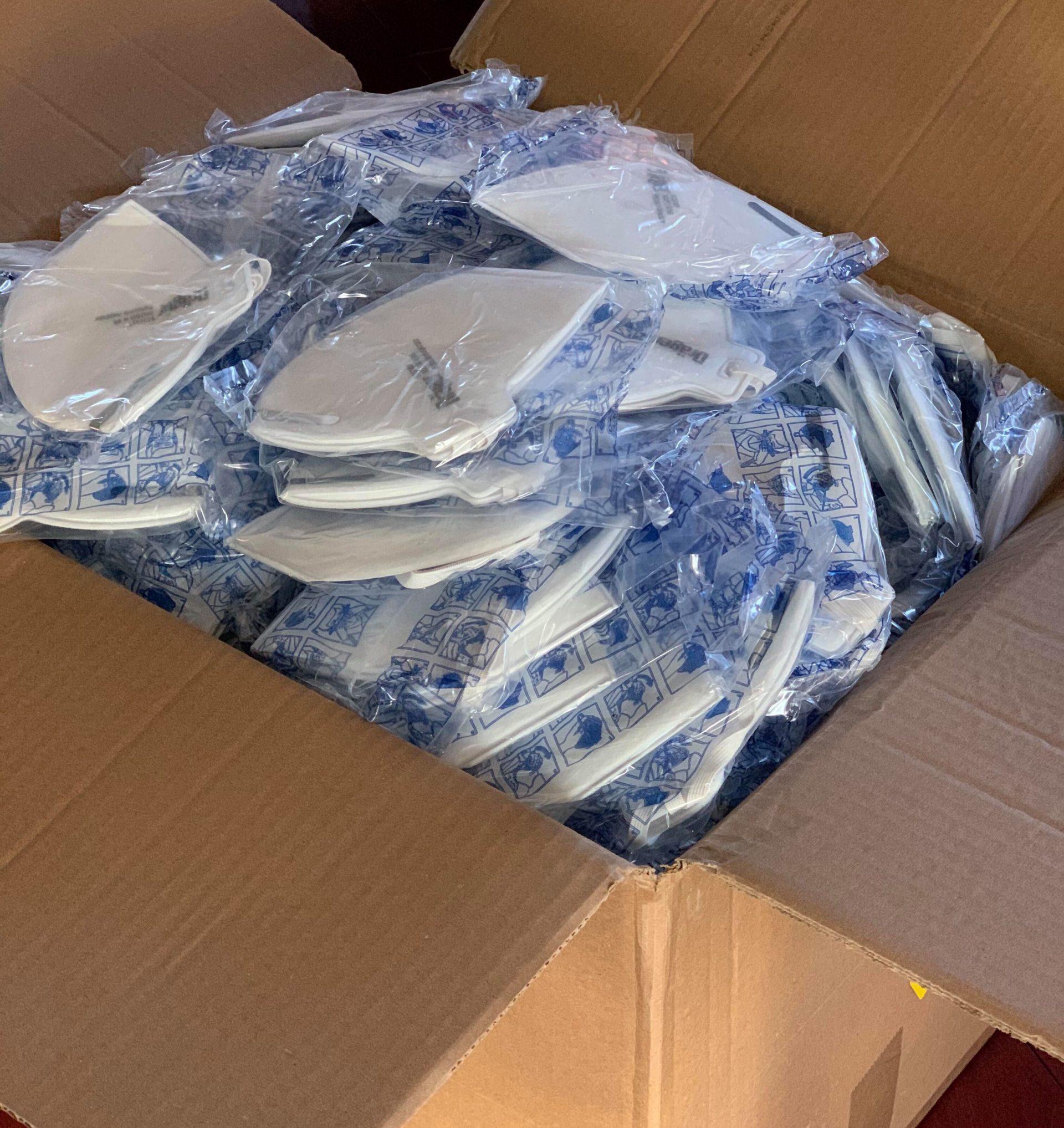 box of N95 face masks