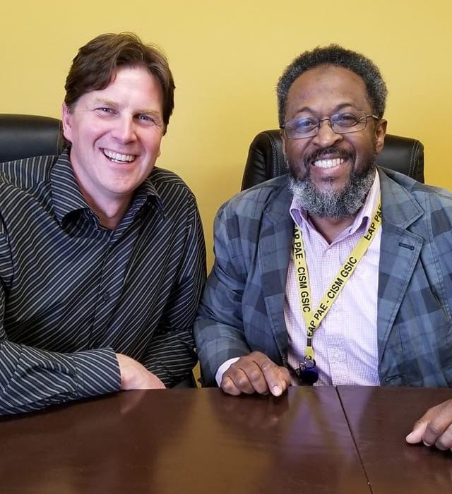 Dan Irwin and Imam AbdurRashid Taylor